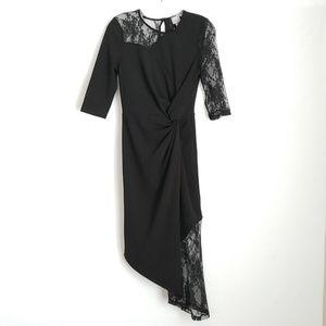 NWT ASOS Floral Lace Twist Asymmetrical Dress